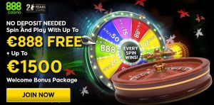 Up to €888 For FREE