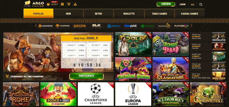 Argo Casino play online