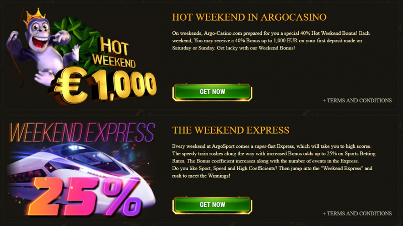 Argo Casino Promotions