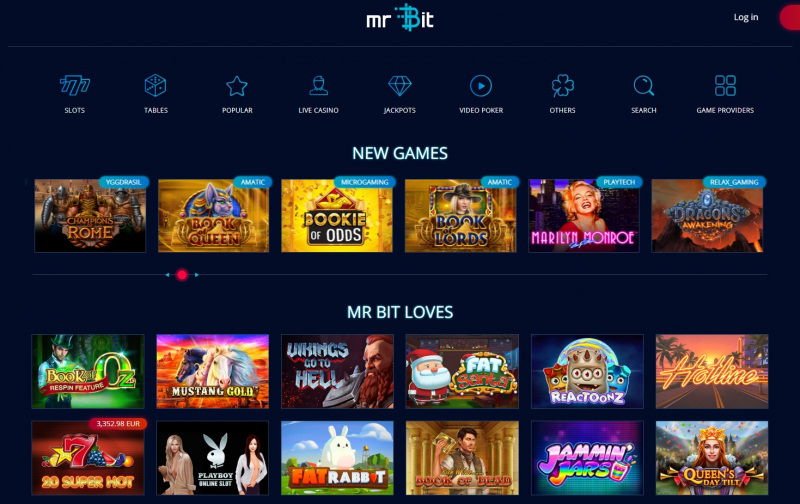 Mr Bit casino games