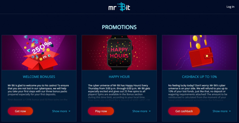 Mr Bit casino bonuses