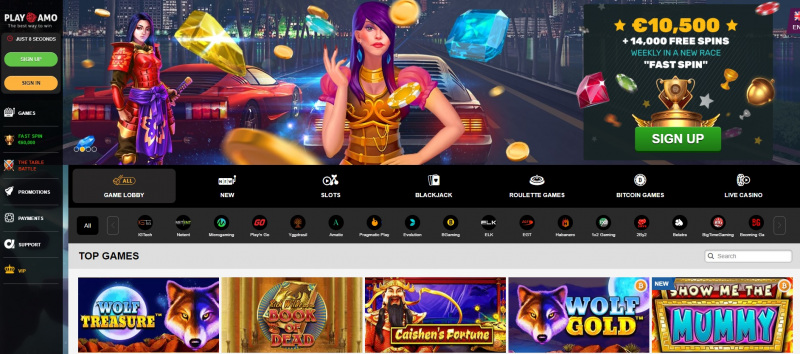 playamo casino home page